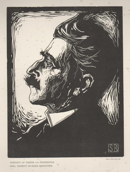 Sigge Bergstršm (1880Ð1975), Verner von Heidenstam, trŠsnitt