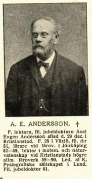 A E Andersson foto