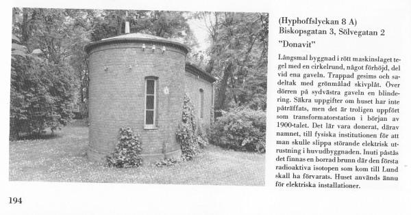 Märklig liten byggnad invid gamla Fysiska Inst. i Lund-2