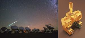 Cosmic fireball falling over ALMA/Receiver