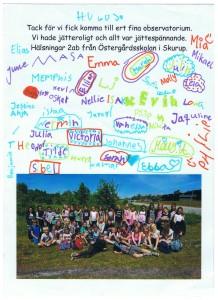 Tack från Östergårdsskolan Skurup (1)