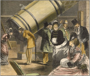 An-engraving-of-A-party-of-amateur-astronomers-at-the-Great-Melbourne-Telescope-in-the