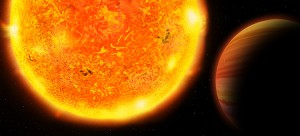 Exoplanet HD 102956 b and its host star (illustration)